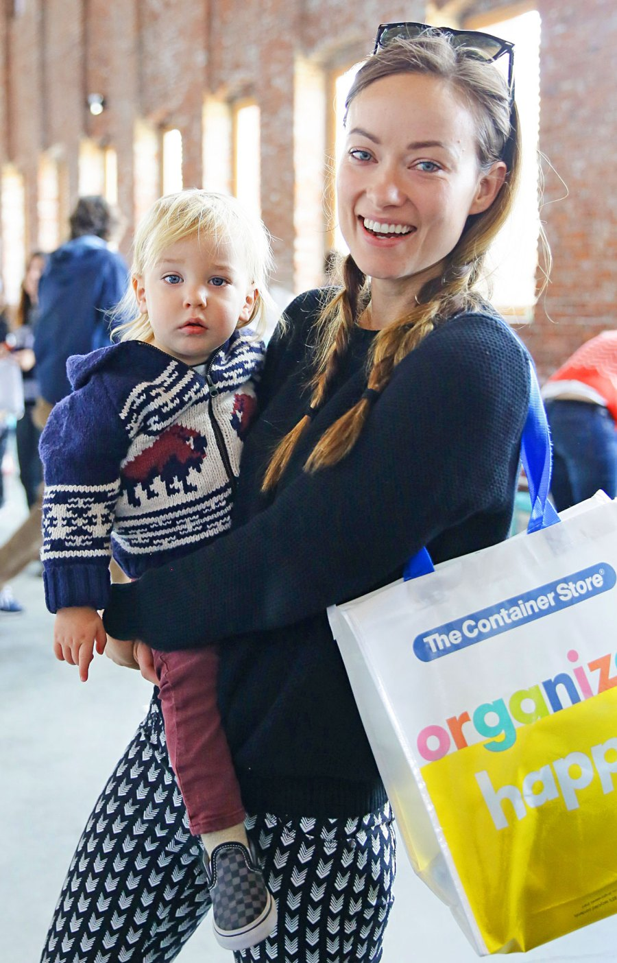 Olivia Wilde with son