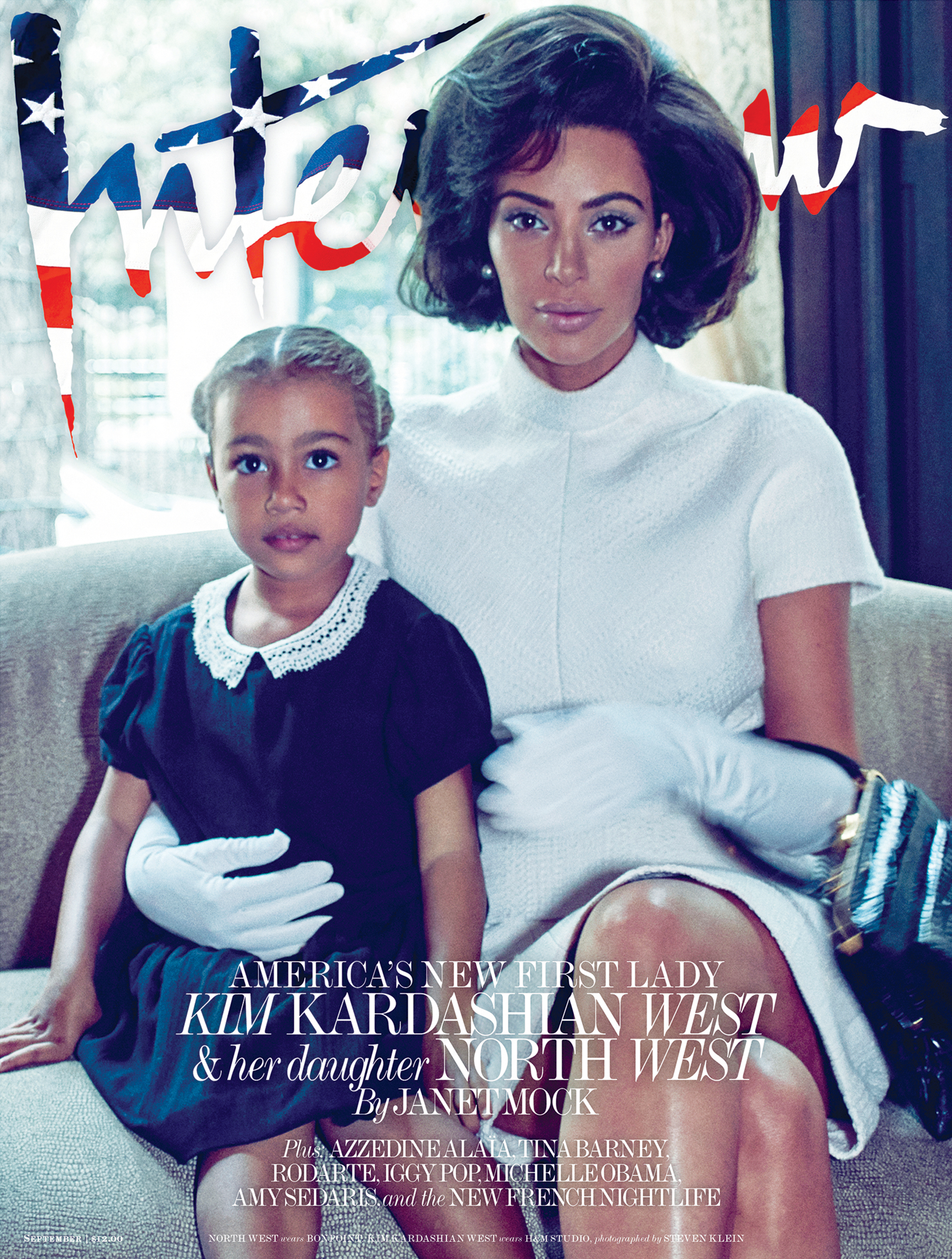 Kim Kardashian and North West Interview Cover
