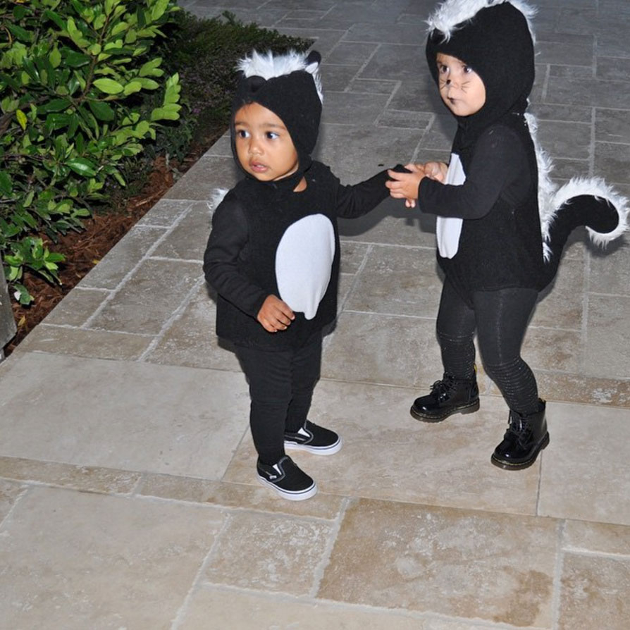North and Penelope wore the same Halloween costume in 2014.