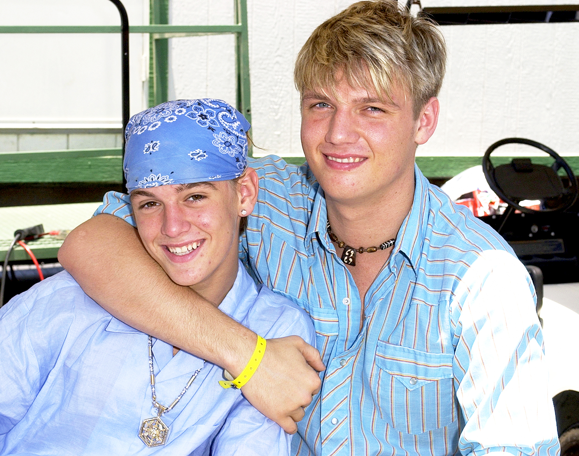 Aaron Carter and Nick Carter