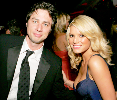 Zach Braff and Jessica Simpson