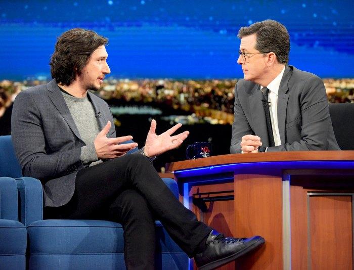 Adam Driver and Stephen Colbert