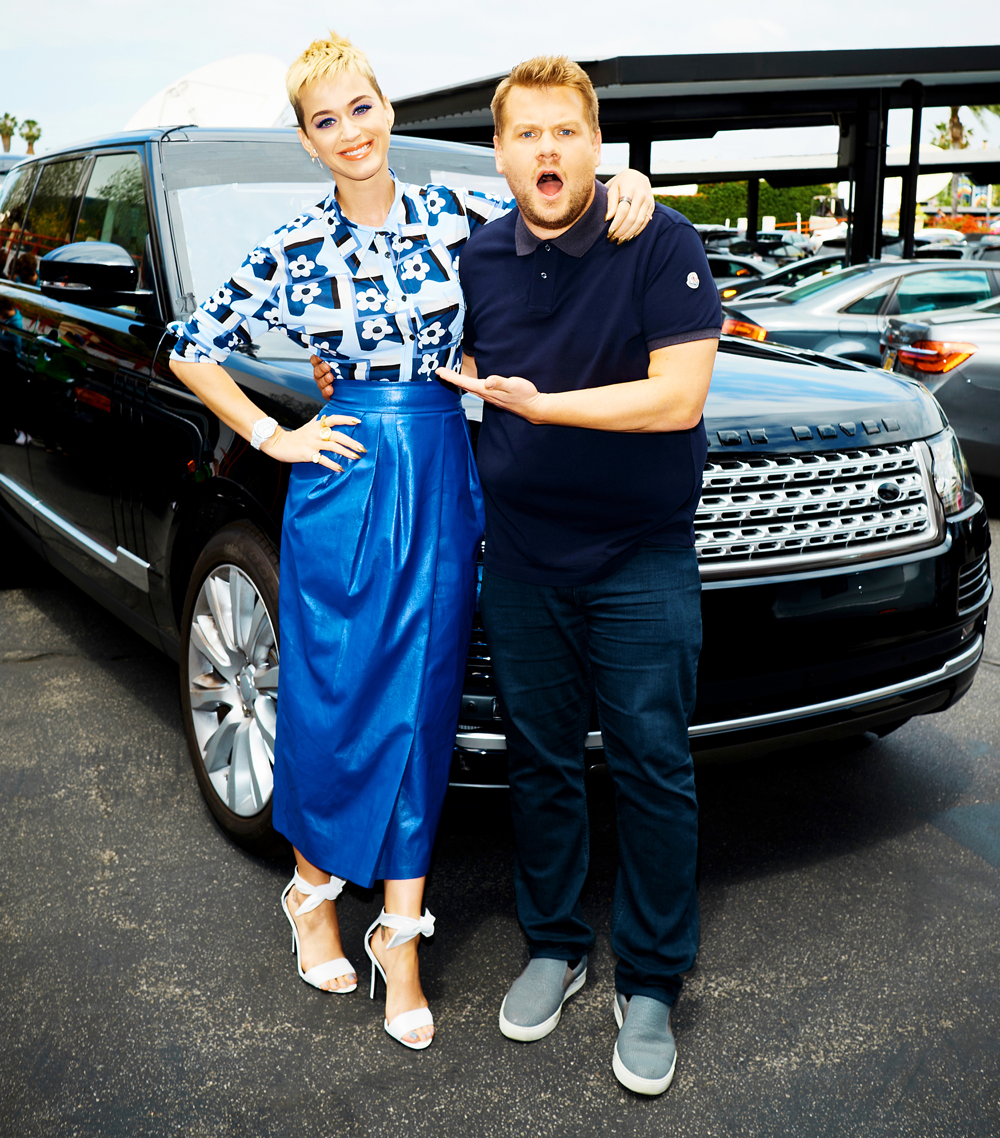 Katy Perry and James Corden