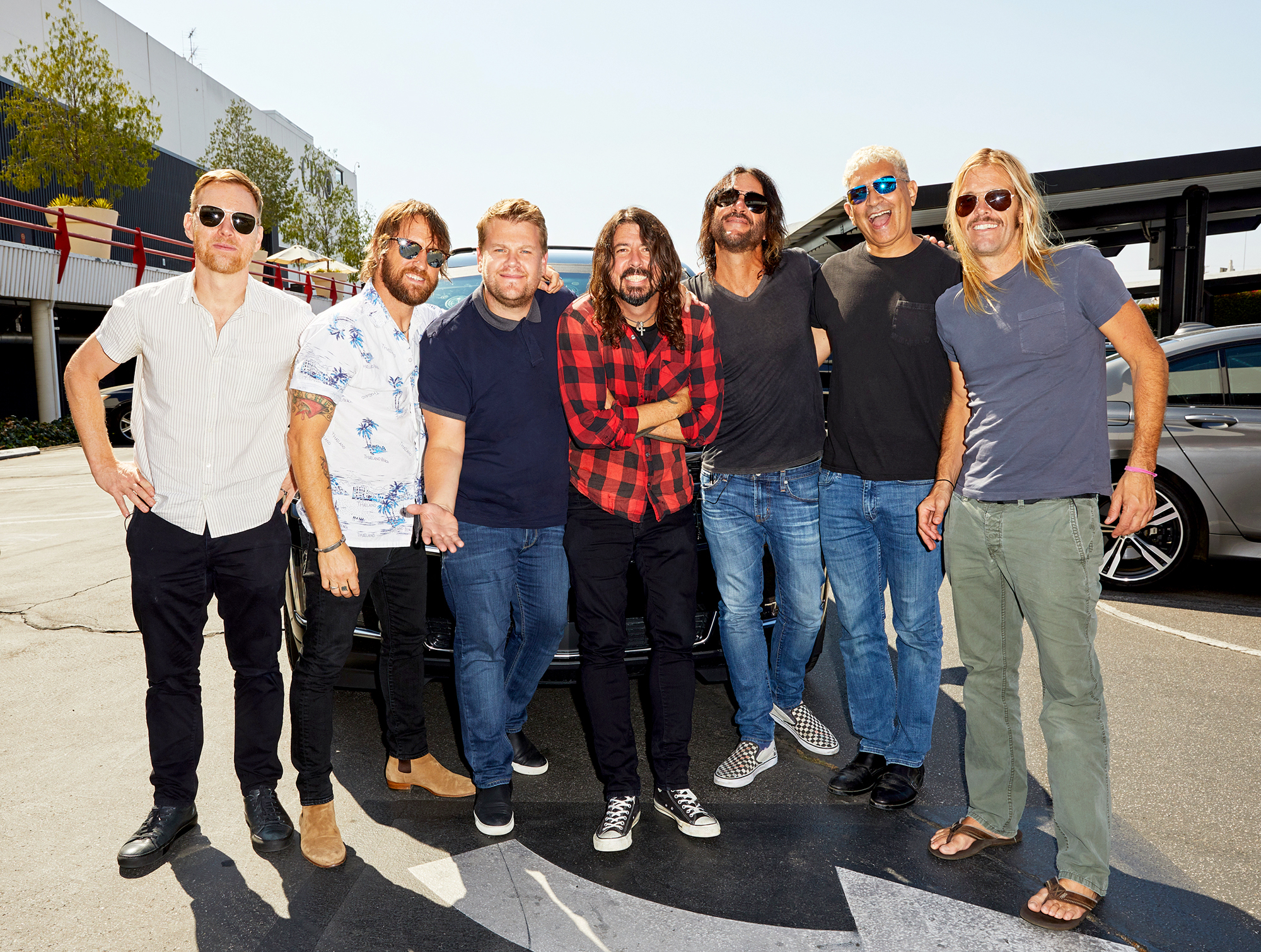 James Corden and Foo Fighters