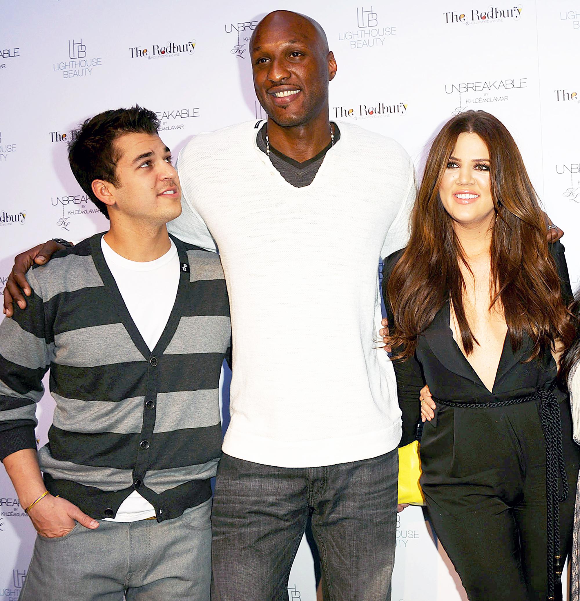 Rob Kardashian, Lamar Odom and Khloe Kardashian