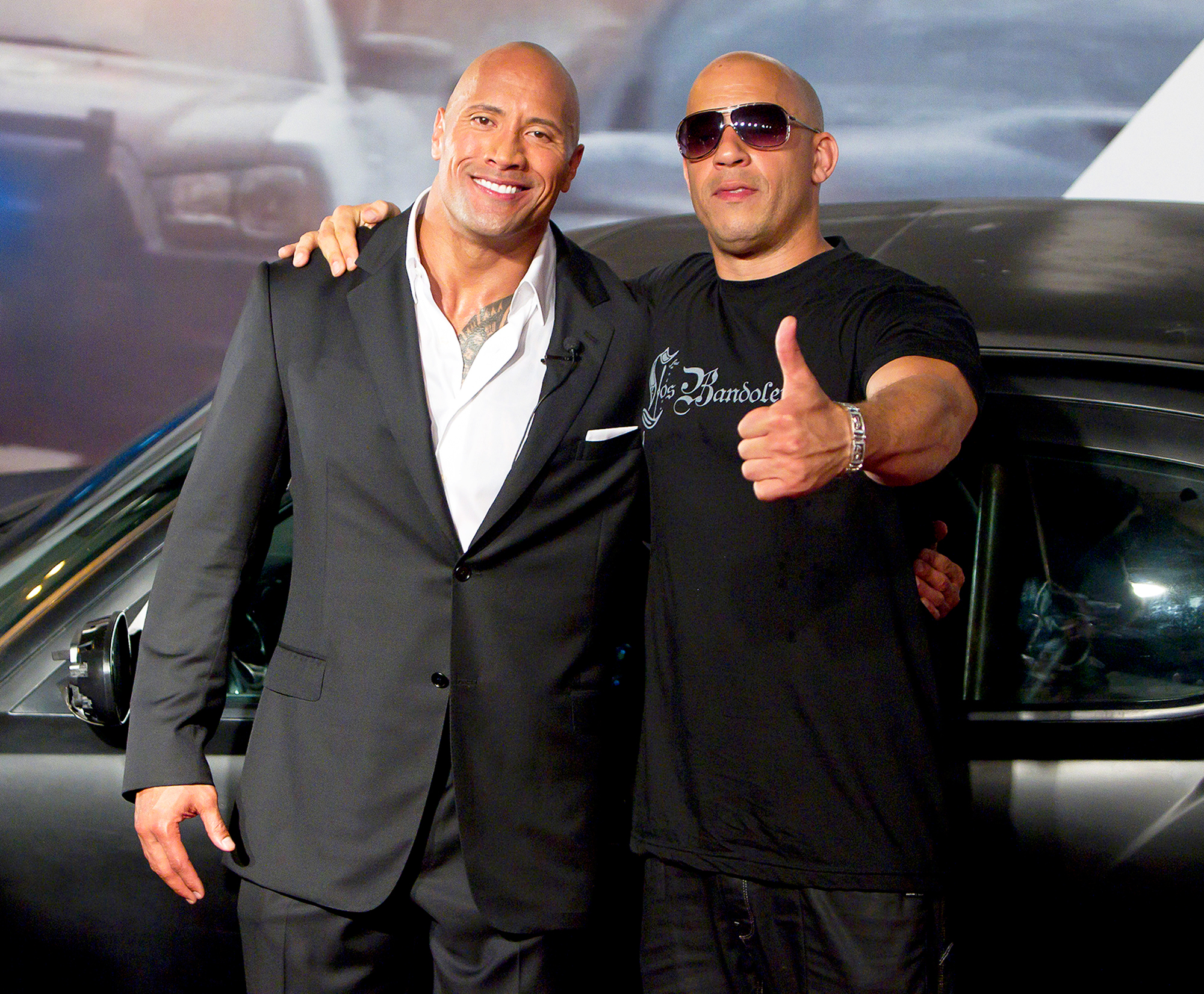 Dwayne Johnson The Rock and Vin Diesel