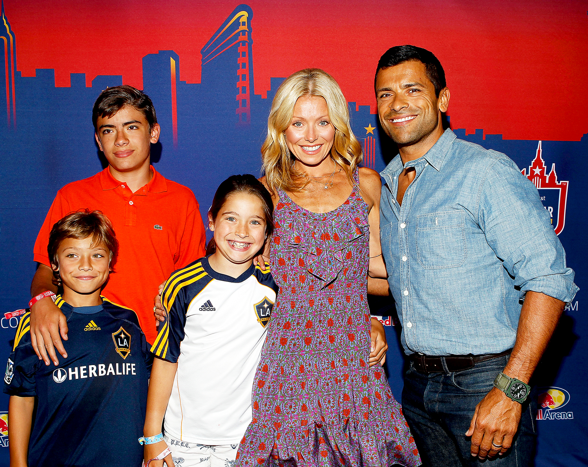 Kelly Ripa, Mark Consuelos, Joaquin, Michael and Lola