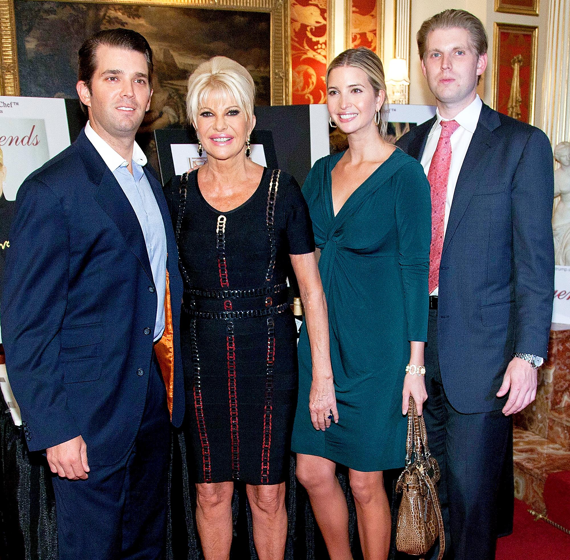 Donald Trump Jr., Ivana Trump, Ivanka Trump and Eric Trump