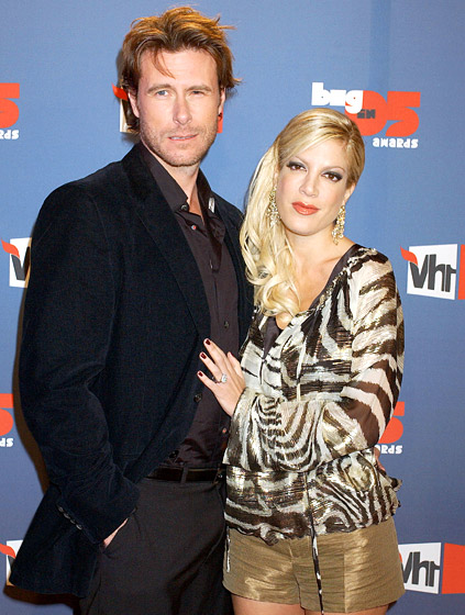 Spelling fell for her Mind Over Murder costar Dean McDermott when the couple filmed the TV movie in Ottawa, Canada, shortly after she married Shanian. When McDermott divorced his wife, Mary Jo Eustace (with whom he has a son), he and Spelling debuted their relationship.