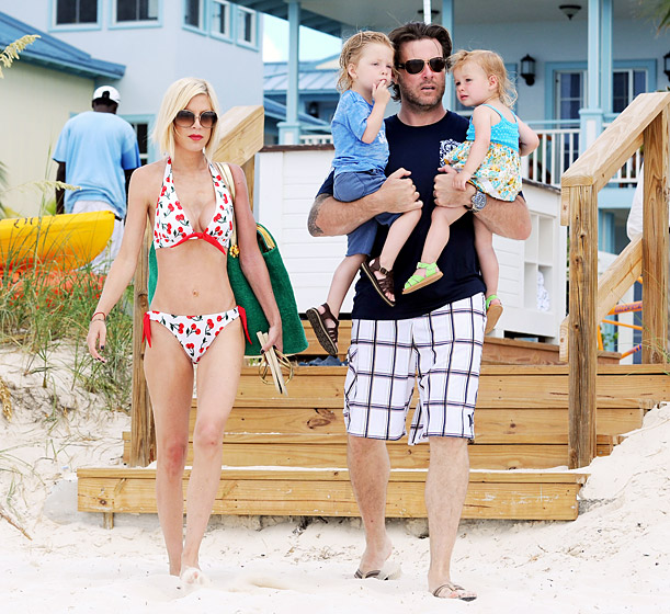 After their vow renewal, the family jetted off for some R&R in the Turks and Caicos islands.