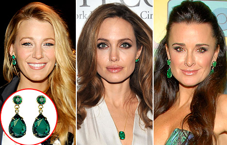 6c7d9ab7a Get Angelina Jolie's Dazzling Emerald Earring Look For $50 - Us Weekly