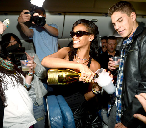 Rihanna Parties With Us Weekly On Her Plane For Wild 777