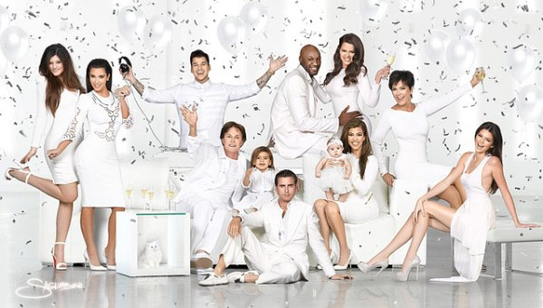 kim kardashian and kanye west share new family christmas card, plus a look back at the many infamous kardashian christmas cards of years past