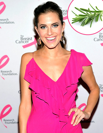 """What Allison Williams Tells Us: """"The smell of rosemary in my eye cream wakes me up. It's pretty spectacular and helps diminish dark circles after a late night of partying."""" What the Expert Says: Though rosemary is a proven antioxidant, vitamin K constricts blood vessels, helping under-eye circles diminish faster, notes facialist Micheline Reboh of NYC's Paul Labrecque Salon and Spa."""
