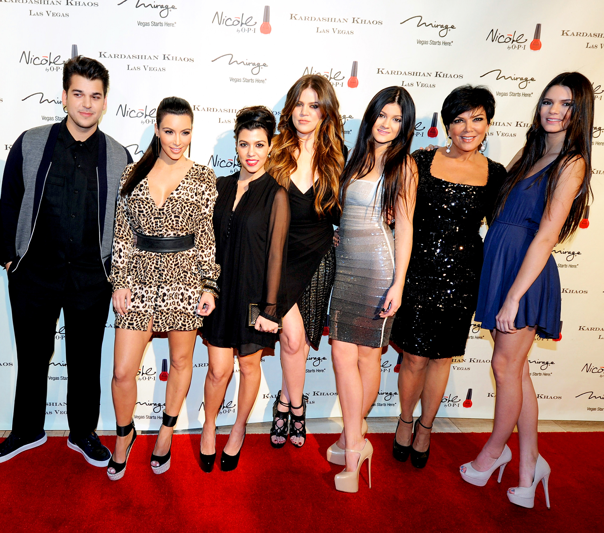 Rob Kardashian, Kim Kardashian, Kourtney Kardashian, Khloe Kardashian, Kylie Jenner, Kris Jenner and Kendall Jenner