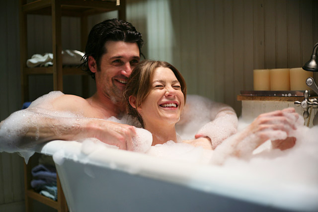 Show: Grey's Anatomy Actors: Patrick Dempsey and Ellen Pompeo Network: ABC Seasons: 9 (as of February 2013)