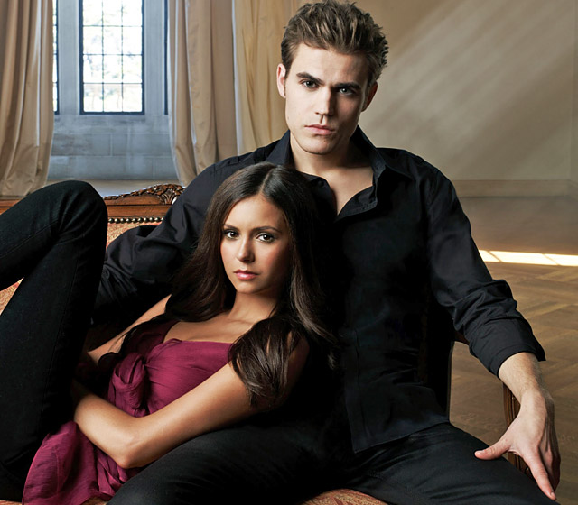 Show: The Vampire Diaries Actors: Nina Dobrev and Paul Wesley Network: The CW Seasons: 4 (as of February 2013)
