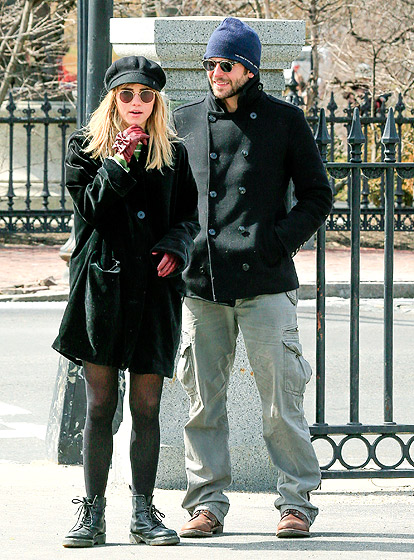 """The Oscar-nominated hunk was photographed with the model in Boston on March 18, 2013. """"It's new but they're hanging out,"""" a source told Us of the new couple, first spotted together in London mid-February."""