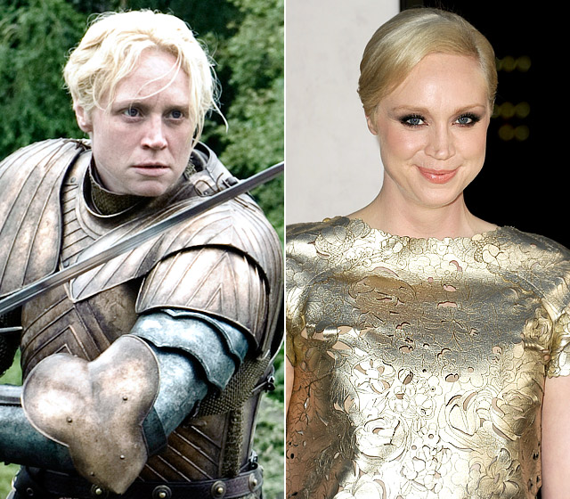 """Two sentences Christie must hear all the time: """"You're so tall!"""" and """"You're so much prettier in real life!"""" The 6-foot-3 actress, who plays the sword-wielding woman warrior Brienne of Tarth, told Digital Spy that her agent had reservations about her taking the unattractive (and stereotypically masculine) role."""
