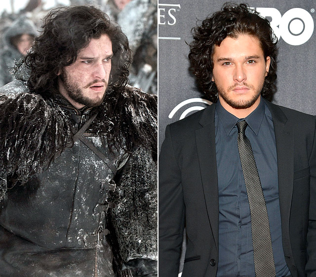 """Jon Snow, the bastard brother of the Stark clan, spent all of season 2 in the frigid hinterlands defending The Wall — which means that Harington had to shoot in, well, frigid places ... like Iceland! """"It's a big show over there. So all the background artists are keen to be [on it]. They grew their beards for months so they could be part of the Wall crew,"""" he told Us Weekly at The Academy of Television Arts & Sciences' An Evening With Game of Thrones in March 2013."""