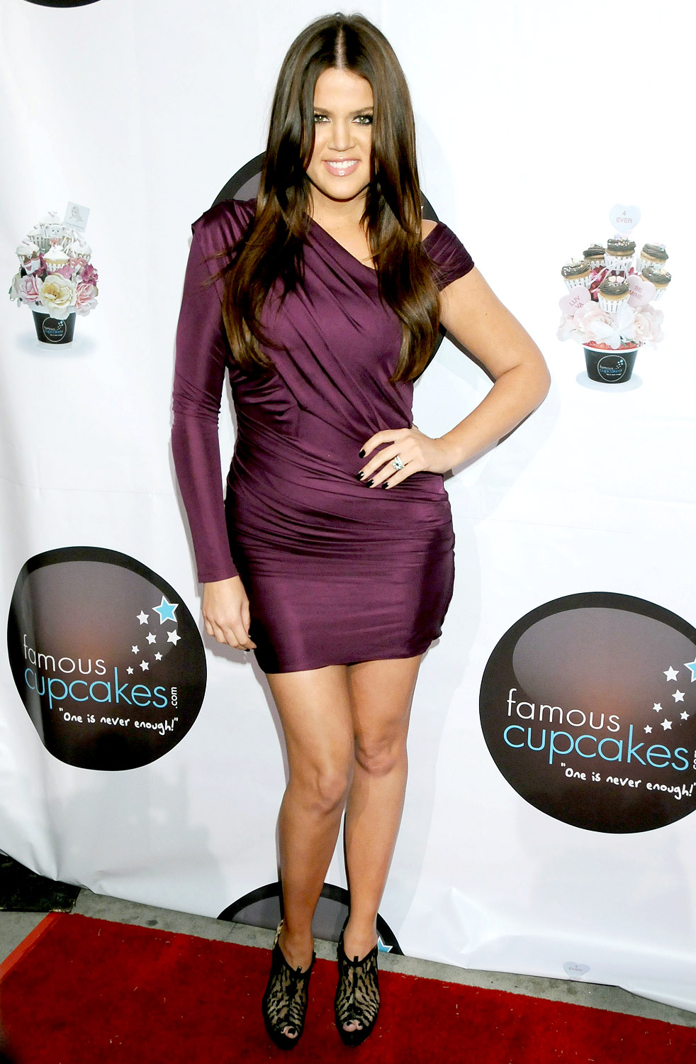 """Debuting a slimmer figure in a tight purple frock in 2009, Khloé revealed she did it by using the weight loss program QuickTrim (all three Kardashian sisters were spokeswomen for the product). """"QuickTrim is seriously amazing and I swear it works!!!"""" she wrote in a blogpost."""