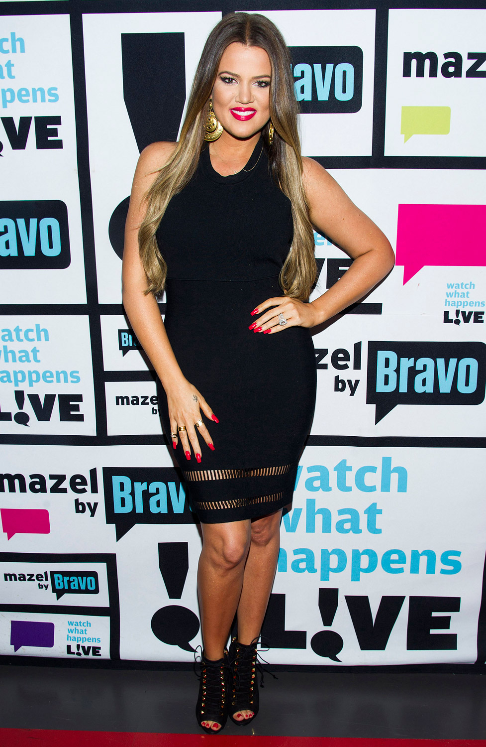"""Wearing a sexy LBD dress to an interview on Watch What Happens Live on May 28, 2013 Khloé talked more about her new eating plan. """"It is consistency,"""" she told Andy Cohen."""