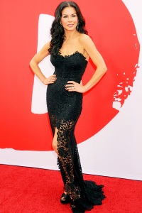 Actress Catherine Zeta-Jones arrives at the L.A. premiere of Red 2
