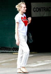 Diane Kruger stepped out without makeup in Hollywood on July 12.