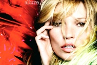 Kate Moss poses for Allure magazine