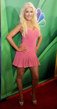 Christina Aguilera debuted major weight loss during an NBC press event
