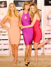 Karlie Kloss, Behati Prinsloo and Erin Heatherton at VS Launch in NY