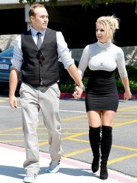 Britney Spears and boyfriend David Lucado on August 4, 2013