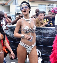 Rihanna at Carnival in Barbados on August 5, 2013