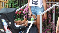 Beyonce with new hair extensions leaving 'Sylvano Ristorante Italiano'