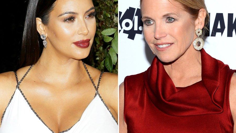Kim Kardashian and Katie Couric