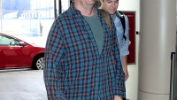 Matthew Perry as he prepares to depart at LAX on August 18, 2013.