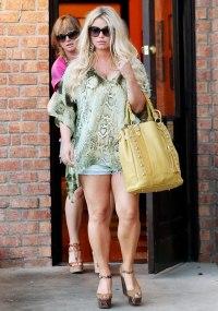 Jessica Simpson in Calabasas, California on September 4, 2013.