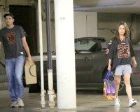 Ashton Kutcher and Mila Kunis in Hollywood on Sept 15, 2013.