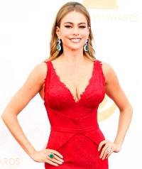 Sofia Vergara at the Emmy Awards on September 22, 2013