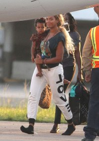 Beyonce and Blue Ivy on September 22, 2013 in San Juan, Puerto Rico.