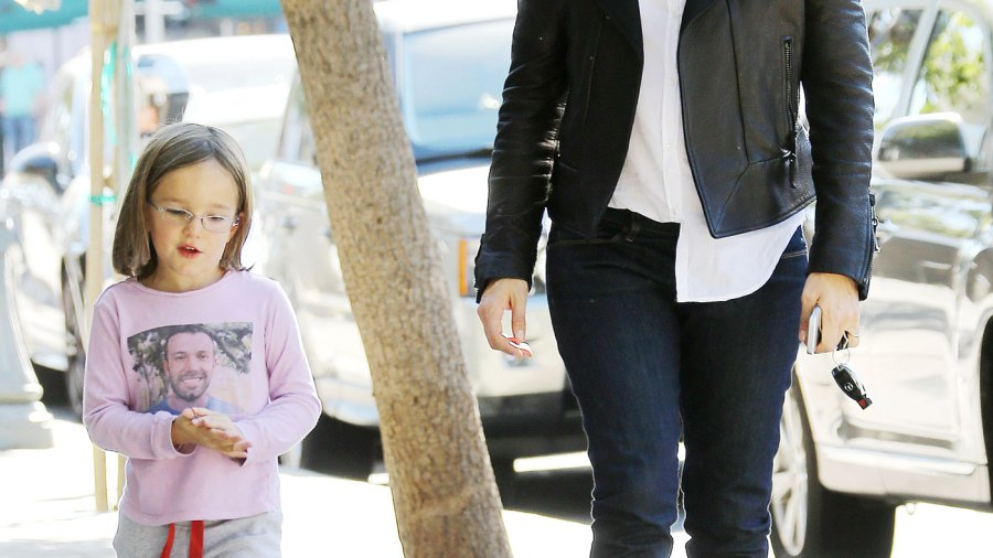 Seraphina Affleck and Jennifer Garner on September 24, 2013