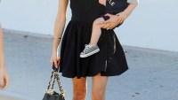 Kristin Cavallari and son Camden in Malibu, California on September 28
