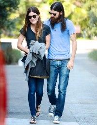 Jennifer Carpenter and Seth Avett in Los Angeles on October 8, 2013