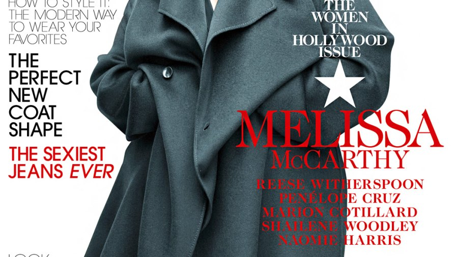 Melissa McCarthy on the cover of Elle magazine