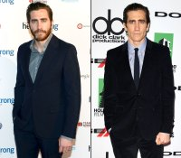 From left: Jake Gyllenhaal in May 2013 and in October 2013.