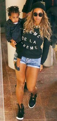 Beyonce arrives at Rod Laver Arena in Melbourne with her daughter Blue
