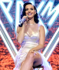 Katy Perry on stage at the Katy Perry iHeartRadio album release party