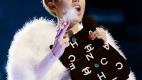 Miley Cyrus smoking a joint at the 2013 MTV EMAs in Amsterdam