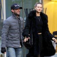 Adam Levine and Behati Prinsloo in New York on Nov 14, 2013