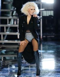 Christina Aguilera performs on The Voice on November 19, 2013